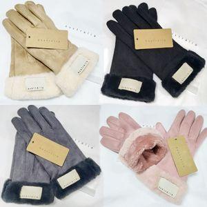 Moda Luvas de Inverno Brand Designer Luvas Mulheres Homens Inverno Luxo Luxo Quente Muito boa Qualidade Cinco Dedos OWE3266