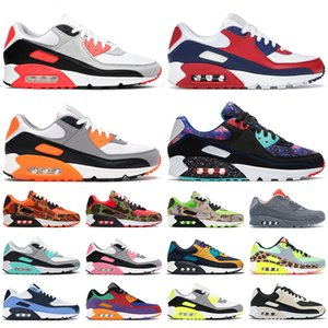 nike air max 90 airmax 90s shoes scarpe da corsa da uomo ginnastica USA Green Camo infrarossi UNC Lime Laser Blue Rose Supernova Turchese uomo sneakers sportive da esterno