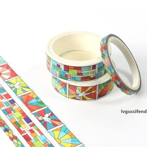 New 3pcs colorful Geometry grid washi tape school supplies stationery tape office stationery 2016