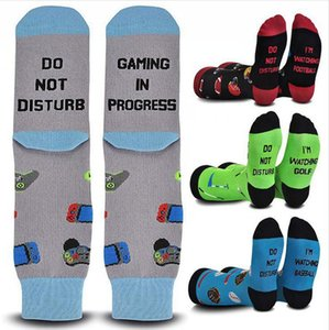 DO NOT DISTURB I'M GAMING Letter Printing Stocking Cartoon Socks Adulit Sport Running Sock Christmas Gift DDA812