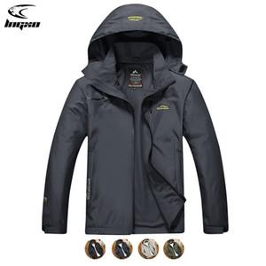Jaqueta de chuva de lngxo homens escalando camping caminhadas caminhadas roupas de caça ao ar livre jaqueta impermeável para homens Goretex windbreaker casaco 7xl q1202