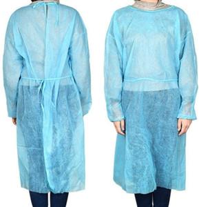 Одноразовые выделение платья полностью изоляция тела Одежда против плевки Открытый защитный платья кухня Анти-пыль Фартуки инструмент LLA2