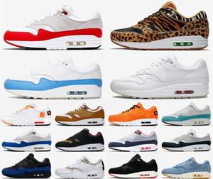 naike Air Max 90 shoes novo topo Atmos qualidade 1s Running Shoes Formadores Atmos 1s Pacote animal 3.0 Elephant Impressão Bred Homens Mulheres Sports Sneakers