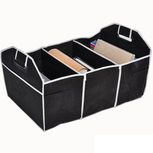 Foldable Car Storage Boxs Bins Trunk Organizer Toys Food Stuff Storage Container Bags Auto Interior Accessories Case Can FBA Ship