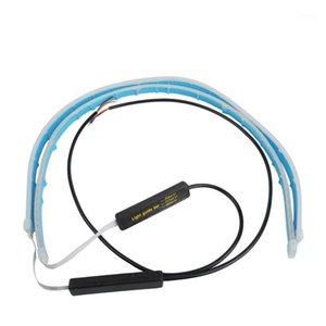 2pcs DRL Daytime Running Lights For Car Dynamic Streamer LED Dual Colorful Trunk Tail Light Turn Signal Car Rear Lamp 30 45 60cm1