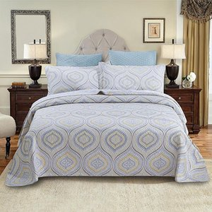Simple Printing Bedding Cotton Polyester Bedspread Pillowcase Quilt Coverlet Bed Covers Blanket Quilting Double Single Size