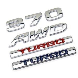 3D Métal 370 AWD Turbo Auto Auto Auto Autocollant Emblème Badge Décalque pour Honda Avancier Crown Accord CIVIC CRV FIT HR-V VEZEL ODYSSEY CRZ
