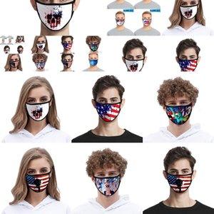 Masque Couche Face Print Double Anti-UV Femmes Masques anti-poussière Designer Mode Foral Hommes Mout Cato Xczj Bappg