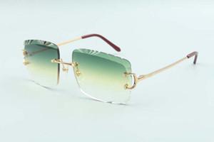 2021 Mais novo estilo Best-seller vendas diretas de alta qualidade lente de corte óculos de sol 3524020, Garras Templos de metal, tamanho: 58-18-135mm