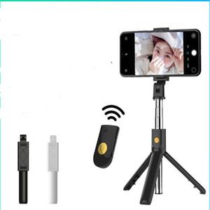 K07 Selfie Tripod و Wireless Bluetooth Selfie Stick مع جهاز التحكم عن بعد لفون X Samsung S10 + Bluetooth Monopod المحمولة