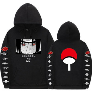 Hoodies Anime Streetwear Çift Kış Coat Moda Gevşek Uchiha Itachi Hoodie Kazak Unisex Hoodie Erkek Bayan