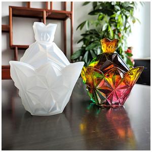 DIY epóxi resina silicone moldes pirâmide quatro lados seção caixa de armazenamento molde ornamentos base de base ambiental novo transparente novo em 13 m2