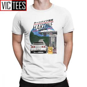 Мужская футболка Hakone Skyline R32 GTR старинный хлопок Первоначальный D JDM футболка Homme CamiSas Hombre Classic 1118
