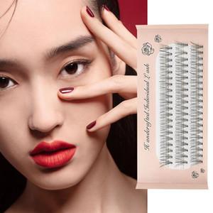 10pcs cils doux faux cils Faux de fibre humaine noire 13 * 11 * 2cm Maquillage professionnel de maquillage professionnel Grafting