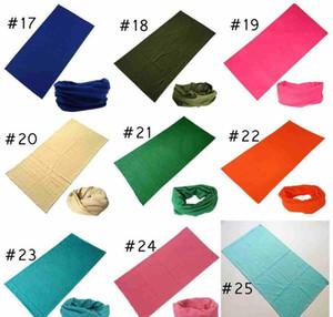 25 Colors Fashion Bandana Face Mask Outdoor Sports Headband Turban Wristband Headscarf Neck Gaiter Magic Scarves wmtvkQ otsweet