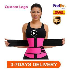 DHL free Men Women Shapers Waist Trainer Belt Corset Belly Slimming Shapewear Adjustable Waist Support Body Shapers FY8084