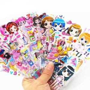Мультфильм одеваются наклейки 3D наклейки Мода марка Дети Дети Девочки Мальчики Пвх наклейки пузыря игрушки Gyh bbyPsI bdebaby