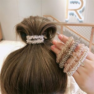 Moda donna Crystal Hair Ties Girls Affascinante Scrunchies Gomma di Gomma Ponytail Supporti Accessori per capelli Accessori per capelli Elastic Band