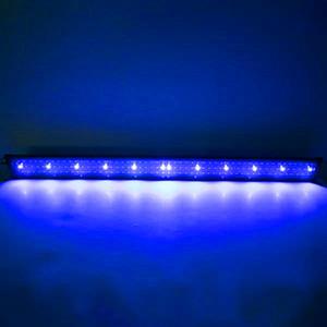 New Design 24W 156LED Full Spectrum Water Lamp 47.2inch Black US Standard Aquarium Lights (Suitable For 47.2-55.1inch Long Aquarium)