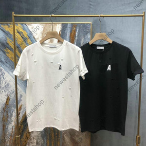 2021 New Mens Designer T shirts Womens Black Classic Lettre Imprimé T-shirt Coton T-shirt Coton T-shirt Casual Tshirt Tops Tee