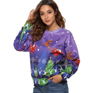 Casual Womens Hoodies Woman Harajuku Hoodies Women Sweatshirt Fashion Christmas 3D Printing Hoodie Sweatshirt Pullover