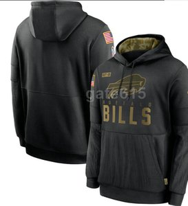 2020 Mens Buffalo Sweatshirt NY Hoody 2020 Salute to Service Sideline Therma Performance Pullover Hoodies S-4XL