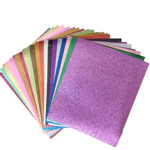 Vinyle de transfert de chaleur de paillettes pour t-shirt 12x10inch fer sur tissu de vinyle 20 couleurs assorties HTV vinyle chau chaud film de bricolage