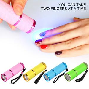 Portable Led Lamp Nail Light for UV Light Nail Polish Dryer Mini Flashlight Torch for Nail Art Manicure Tools 8 Colors To Chose