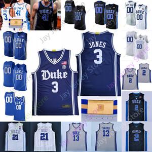 2020 Custom Duke Basketball Jersey NCAA College 1 IRVIVE 4 REDICK 0 Tatum 2 Reddish 34 Henry Coleman III