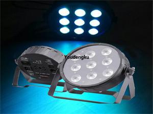 4pcs dj party light led flat par 9 x 10 par can rgbw 4in1 indoor dimmer led par uplighting