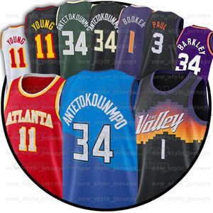 11 TRAE 34 Giannis Young 1 Devin 34 Charles Antetokounmpo 0 Russell Booker Westbrook Jersey 13 Steve Barkley Nash
