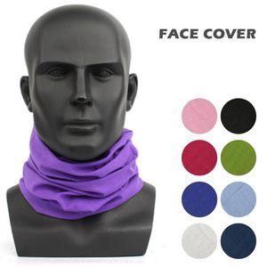 Outdoor Sport Bandana Scarf Headwear Riding Cycling Headscarf Tube Wristband Headband Solid Color Face Mask for Men Women