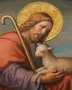 Catholic picture JESUS WITH LAMB Home Decoration Oil Painting On Canvas Wall Art Canvas Pictures For Wall Decor 201126