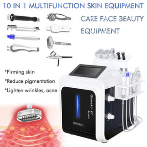 New 10 in 1 BIO RF Hydro Microdermabrasion Water Hydra Dermabrasion Spa Facial Skin Oxygen Therapy Face Cleaning Machine