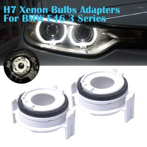 2Pcs H7 Xenon Bulbs Adapters For E46 3 Series 325i 325ci 330i 330ci Auto Vehicle Car Lights Led Lamp Headlight Booth Deck1