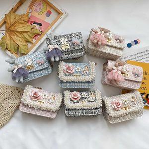 Kids Mini Purses and Handbags Cute Girls Princess Messenger Bag Baby Girl Small Coin Pouch Kawaii Party Pearl Purse