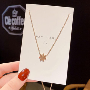 Sunflower Daisy Pendant Necklaces Titanium Steel Korea Flower Charm Gold Necklace for Women Gifts Wholesale Dropshipping 149