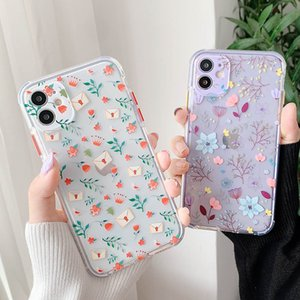 Phone Case For iPhone 11 Pro Max XS Max XR X 7 8 Plus SE 2020 Cases Clear Flowers Soft TPU Beautiful Floret Back Cover Fundas