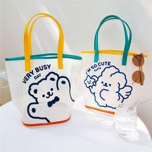 Bentoy Milkjoy Wasserdichte Handtasche Korea Mädchen Reise Strand Frauen Wäsche Aufbewahrungstaschen Niedlichen Bären Kaninchen Schulter Einkaufstasche Q1117