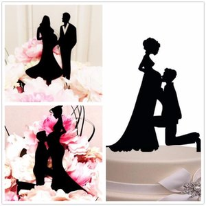 Mother-to-be Black Acrylic Cake Topper Pregnant Birde & Groom Wedding Party   Anniversary  Bridal Shower Decorations