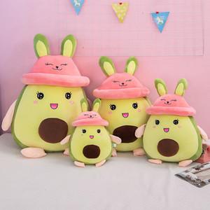 25cm 플러시 장난감 귀여운 작은 아보카도 토끼 플러시 장난감 박제 동물 부드러운 아이 봉제 인형 크리스마스 선물