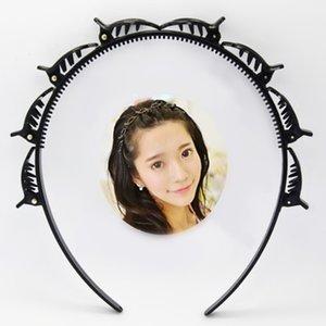 Black Braider Hair Clip Burst Pin Hairdo Bring Hair Hoop Multi-Hoory Wisp Air Weave Head Hoop Styling Tool