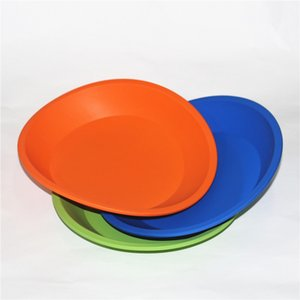 """Circular Silicone Deep Dishes Round Silicone Pan 8"""" friendly Non Stick Silicone Dab Mats Free Shipping DHL"""