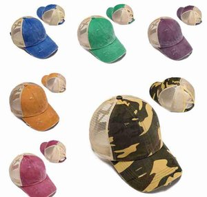 Ponytail Baseball Caps Summer Messy Buns Hats Washed Cotton Hat Unisex Visor Sun Cap Outdoor Snapbacks bbynkS nana_shop