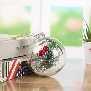 Transparent Gadgets Ball New Transparent Plastic Crafts Ball Fashion Christmas Ornaments Holiday Party Ornaments Christmas Decoration 2020 N
