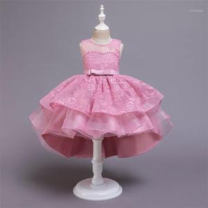 Детские девушки одежда подростки кружева вышивка вечер свадьба пачка принцесса платье для девочки элегантное день рождения платье девушки1