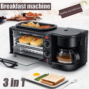 전기 3 in 1 아침 식사 기계 다기능 커피 메이커 미니 피자 오븐 계란 오믈렛 프라이팬 팬 토스터 아침 기계