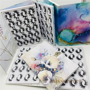 20 paires de cils de vison livre cils en faux mink avec boîte magnétique épais de faux cils de faux cils faux cils de maquillée de maquillage
