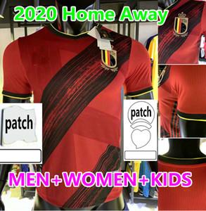 2020 2021 Peligro Lukaku Mertens Bélgica Soccer Jerseys Hogar 20 21 De Bruyne Company Bélgica Alejor Blanco Hombres Niños Uniform Uniform Deporte Camisa de Fútbol
