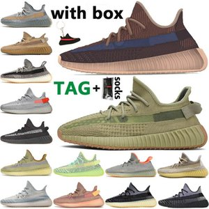 2021 Kanye West Uomo Scarpe da corsa Fade Abez Asriel Sulfur Israfil Yecheil Statico V2 Riflettente Mens Trainer Donna Sport Sneakers Dimensioni 13